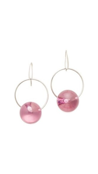 earrings pink jewels