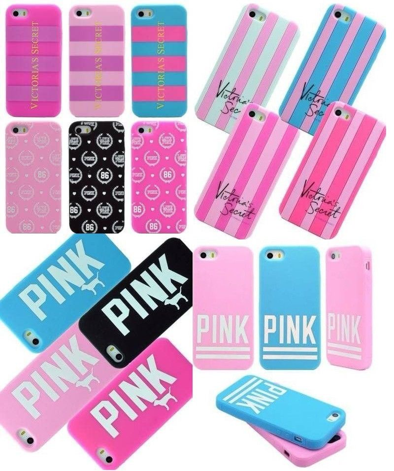 factory authentic b2310 cf61e Victoria's Secret Pink Dog Silicone Rubber Soft Case for iPhone 5S 5 iPhone  4S 4 | eBay