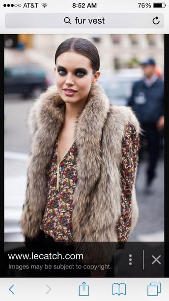 jacket fur vest