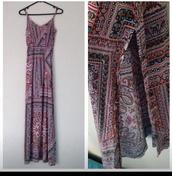 dress,maxi dress,boho,bohostyle,hippie,hippy dress,beautiful,amazing