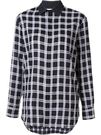 shirt women boyfriend cotton black top