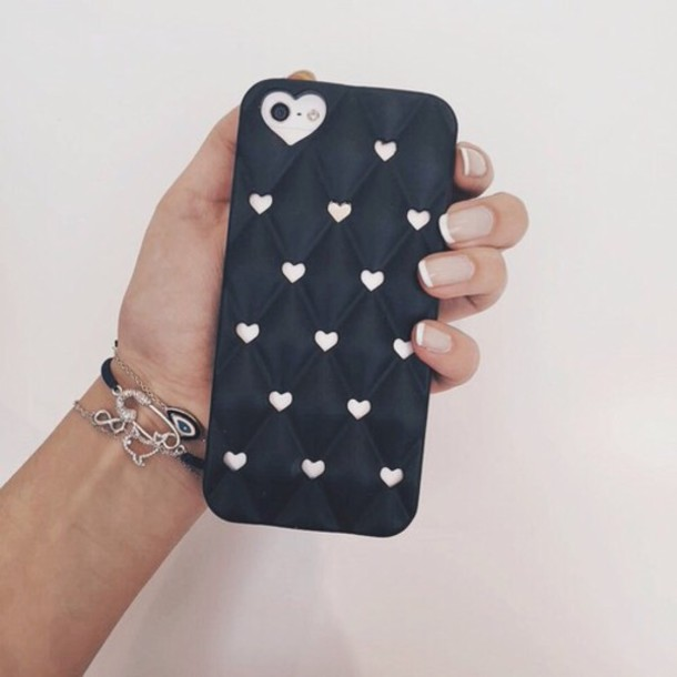phone cover blac iphone 5s phone cover heart valentines day
