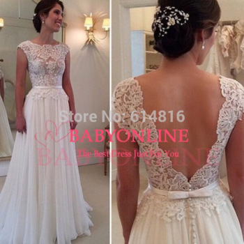 Aliexpress.com : buy elegant a line lace embellished bridal wedding dresses 2015 sexy backless vestidos de noiva casamento from reliable dresses mother wedding suppliers on suzhou babyonlinedress co.,ltd