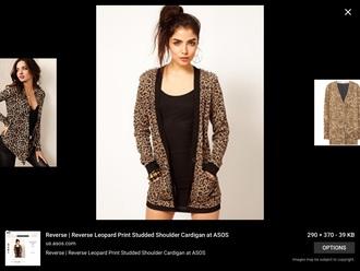 cardigan leopard print animal print studded jacket
