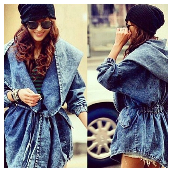 Rainy day denim jacket – lavishshop