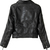 Black Double Zipper Long Sleeve Belt PU Biker Jacket - Sheinside.com