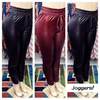 pants pinkish red sweatpants tight black grey sexy dope trill skinny pants