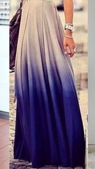 maxi skirt skirt maxi ombre ombre skirt elegant purple dress white dress ombre dress