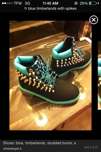 shoes timberland spike leopard print