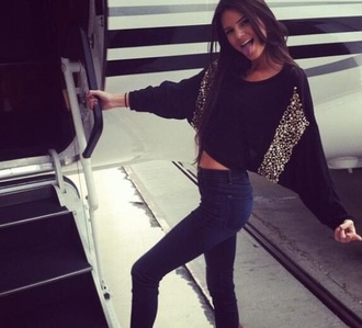 sweater kendall jenner cute pleasehelpme kendall and kylie jenner sparkly jeans