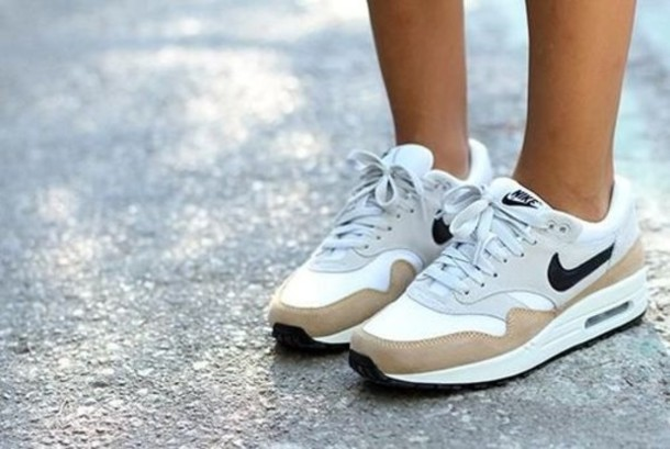 shoes nike air max air max nike air max 1 airmax one withe nike air nike sneakers nike air force air max air max air max 90 beige shoes nike shoes Wherecanibuythis white black light brown shoes light brown nike air max 1