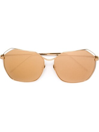 women sunglasses gold grey metallic