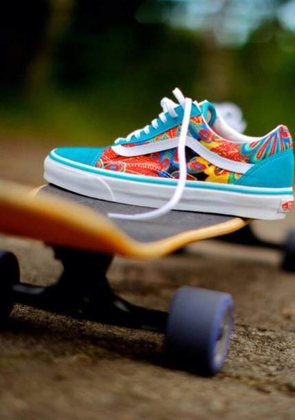 f36bb0a985a7 shoes skateboard skater colorful vans vansofthewall skateboard printed vans