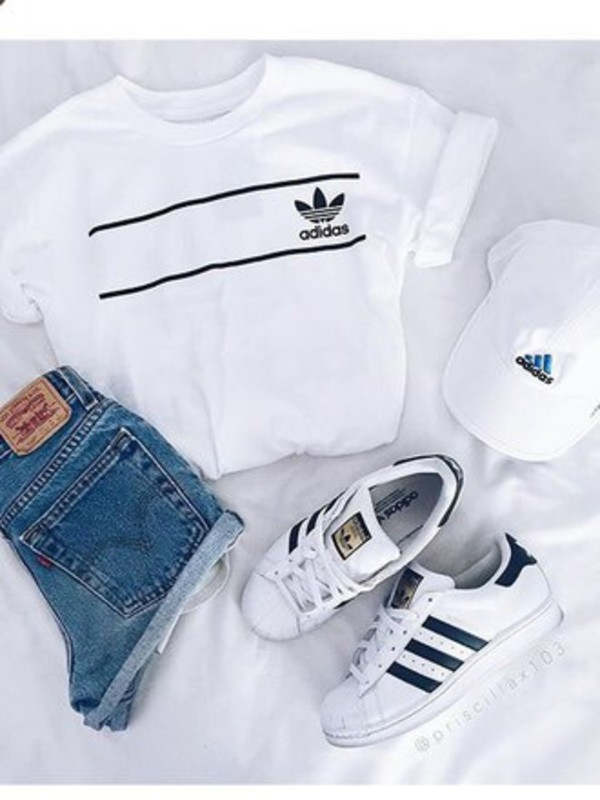 sneakers shirt adidas grunge tumblr hipster shorts