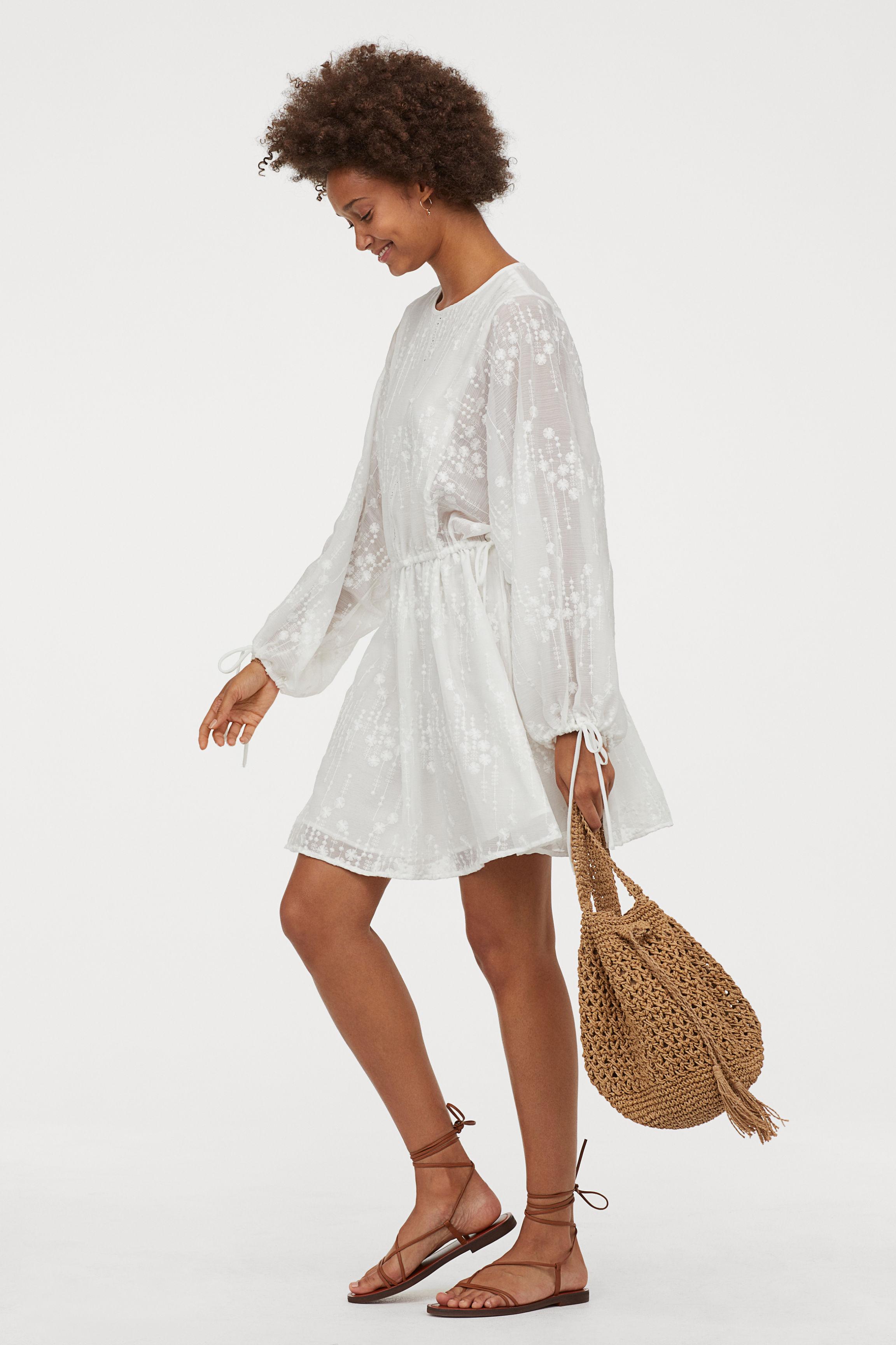 Airy tunic - White - Ladies | H&M GB
