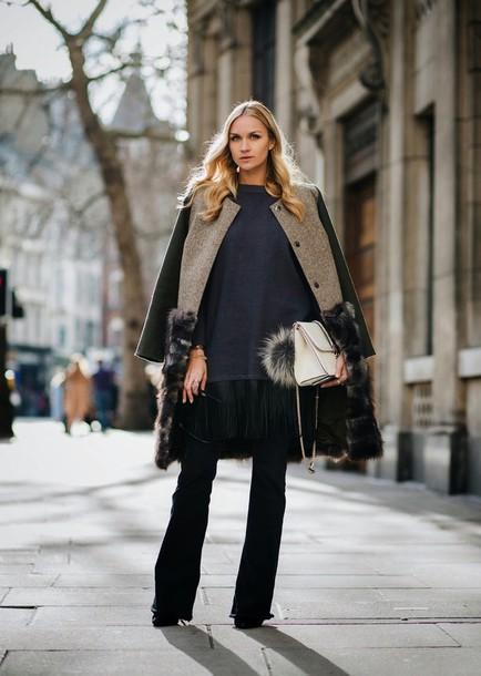 en vogue coop blogger winter coat coat sweater shoes bag