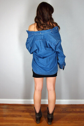 shirt denim chambray mens men's kardashians jeans oversized grunge boyfriend boyfriend cardigan