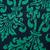 Green Jacquard Florals Flare Skirt - Sheinside.com