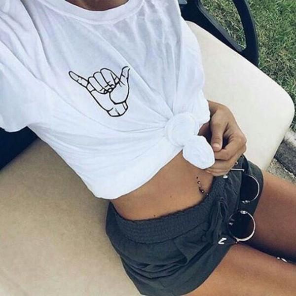t-shirt white black white t-shirt