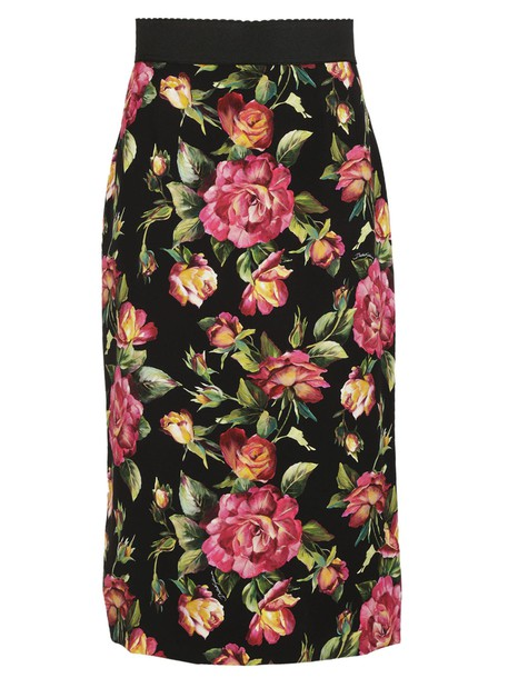 Dolce & Gabbana skirt pencil skirt floral print multicolor