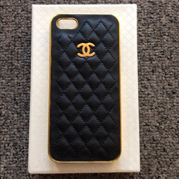 ... iphone 5 case iphone case cute chanel quilted black iphone