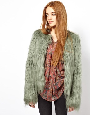 Pepe Jeans | Pepe Jeans Faux Fur Coat at ASOS
