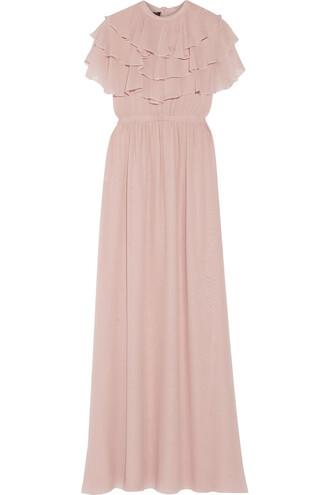 gown silk pastel pink pastel pink dress