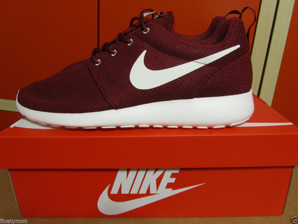 Nike Roshe Run Rosherun Burgundy Team Red Sail Maroon Yeezy 511881 610 8 13  | eBay