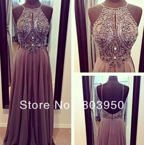 New 2014 Trends Real Made Picture Luxury Beaded Sexy V Back Long Prom Dresses Winter Elegant Free Vestido De Noiva DYQ62-in Prom Dresses from Apparel & Accessories on Aliexpress.com
