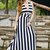 Stripe Magic Maxi Dress