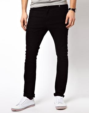 ASOS | ASOS Super Skinny Jeans in Black at ASOS