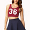 Sporty cutout crop top | forever21 - 2079942543