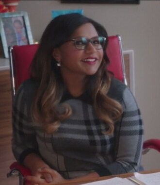 dress the mindy project mindy lahiri grey plaid sweater dress wool