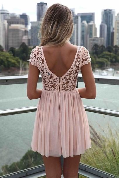 pink dress lace dress soft pink low back floral dress mini dress pink summer dress summer outfits pastel dress pastel dress white dentelle bag light pink flower pattern summer flowers cute