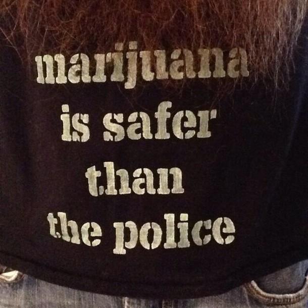 shirt marijuana police