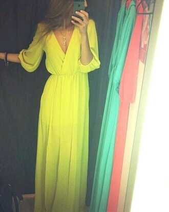 yellow dress prom dress