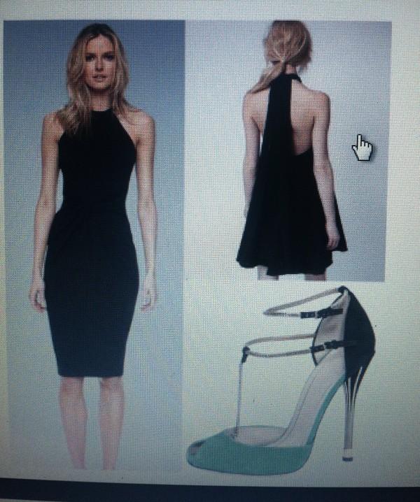 black dress bodycon dress