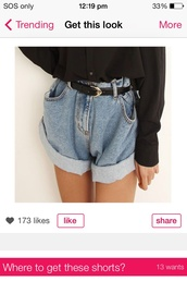 shorts,loose shorts high wasted love oh my god ! beautiful,jeans,denim,grunge,High waisted shorts,high waisted jeans,stolen from grandma,pants