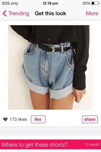 shorts loose shorts high wasted love oh my god ! beautiful