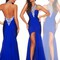Halter royal blue mermaid formal eevning dress backless clubwear pageant custom | ebay