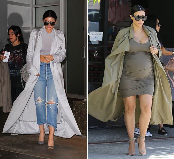 Coat Kim Kardashian Kendall And Kylie Jenner Trench