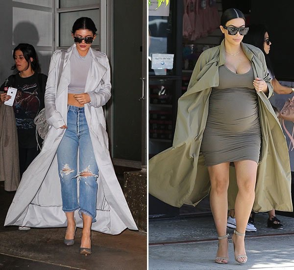coat kim kardashian kendall and kylie jenner trench coat celebrity style celebrity trench coat for women long coat long trench spring trench