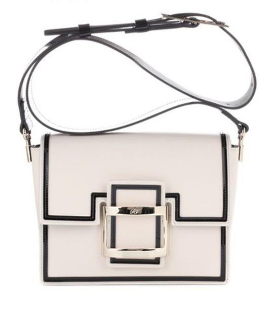 Roger Vivier mini bag shoulder bag leather white