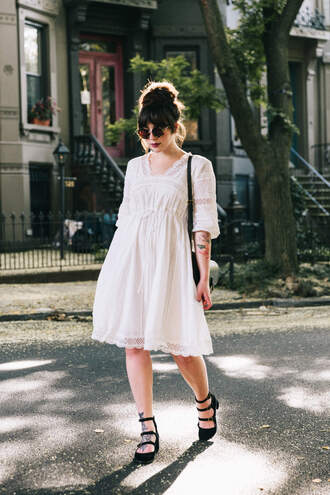dress midi dress sunglasses tumblr white dress shoes mid heel pumps round sunglasses