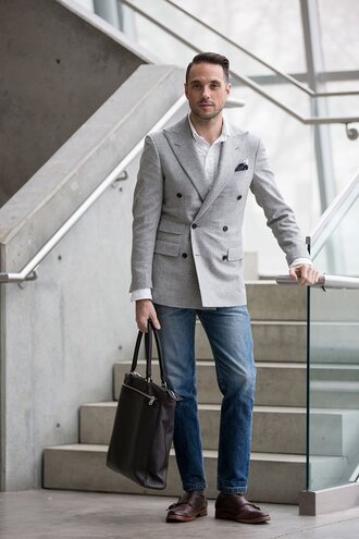 he spoke style blogger menswear mens shoes mens blazer mens bag