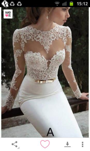 dentelle blanche robe
