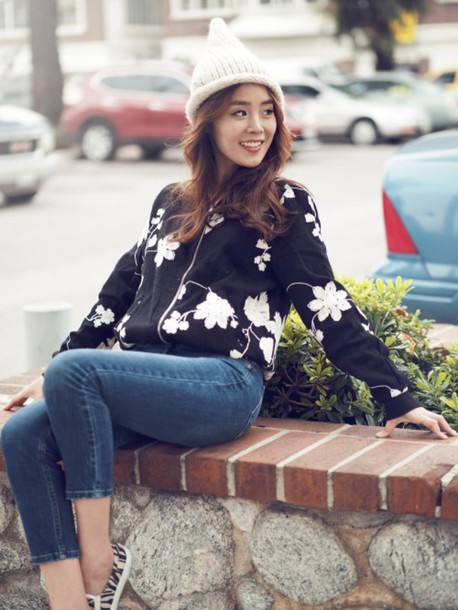 jullianne blogger jeans bomber jacket jacket
