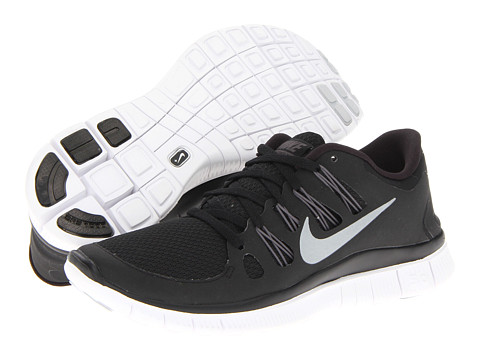 Nike Free 5.0  Black/Dark Grey/White/Metallic Silver - Zappos.com Free Shipping BOTH Ways