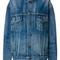 Balenciaga - like a man denim jacket - women - cotton - 38, blue, cotton