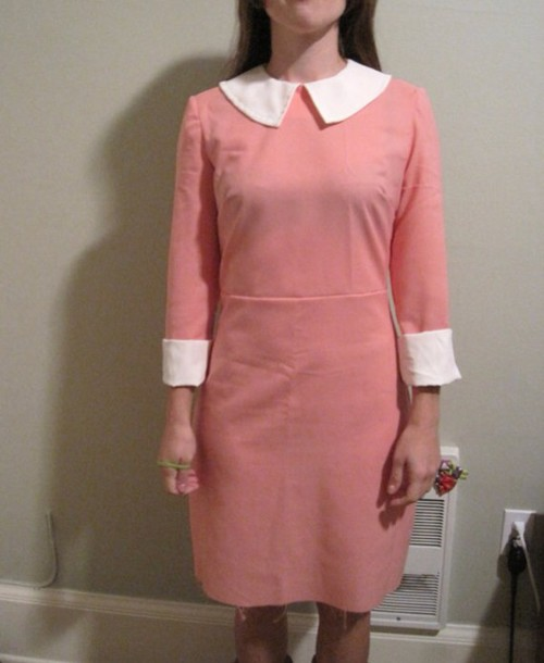 dress pink moonrise kindom 60s style suzy bishop suzy wes anderson